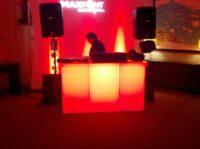 service bar branded acrylic bar height LED table