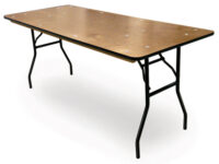 banquet rectangle rectangular wood folding banquet table