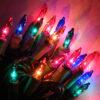 colored string christmas lighting rental