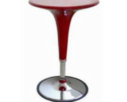 red acrylic adjustable highboy cocktai bar table
