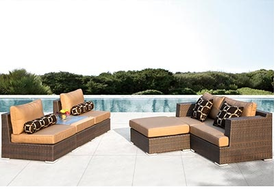 outdoor espresso brown wicker furniture rentals