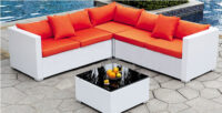 chicago rent black lounge furniture armed modular chair set