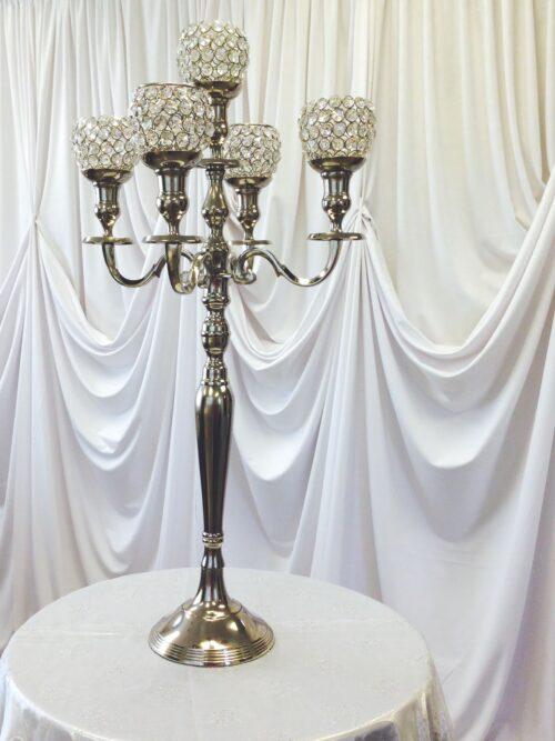 32in crystal votive candelabra