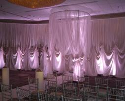 Designed Fabric Backdrop, Ivory