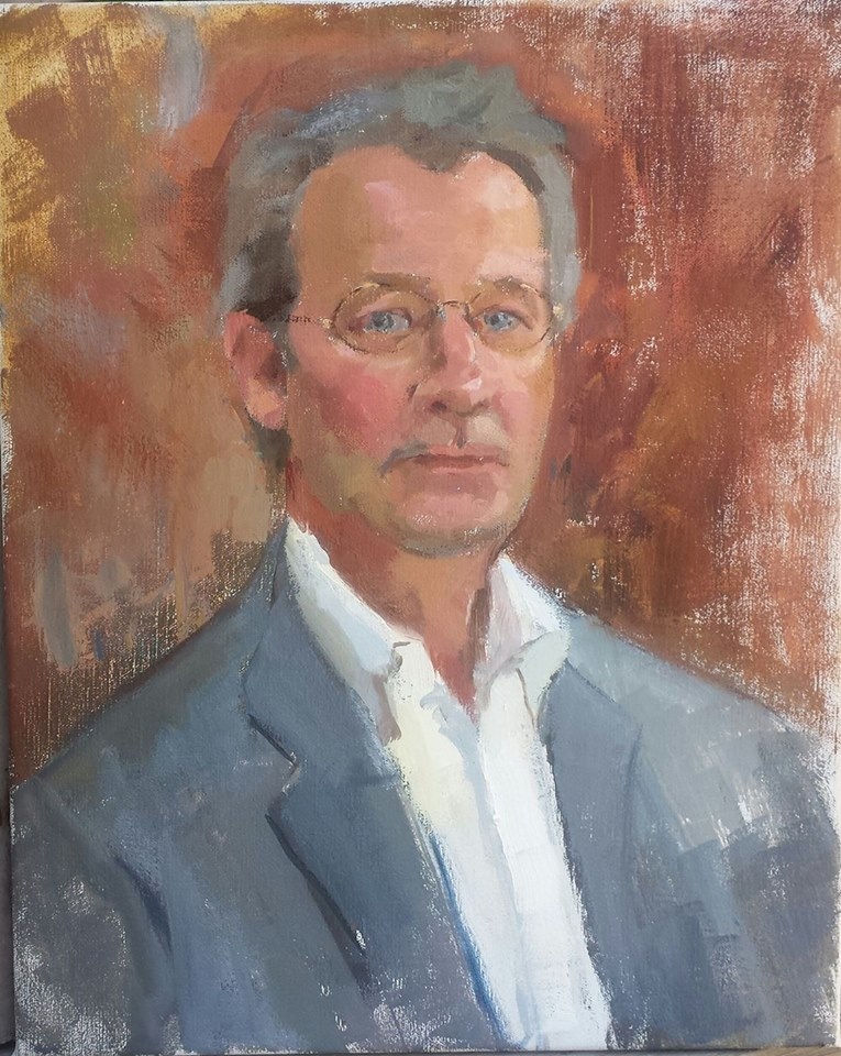 Portrait of Eric, oil on canvas