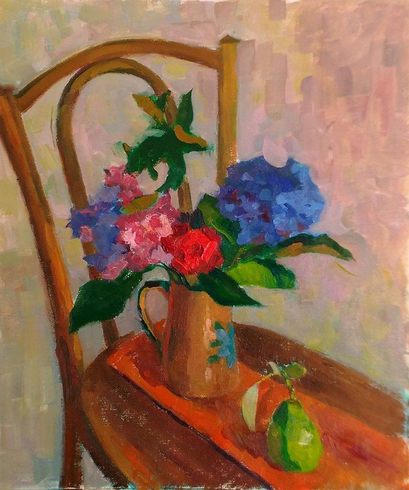 French Still Life. oil on canvas.