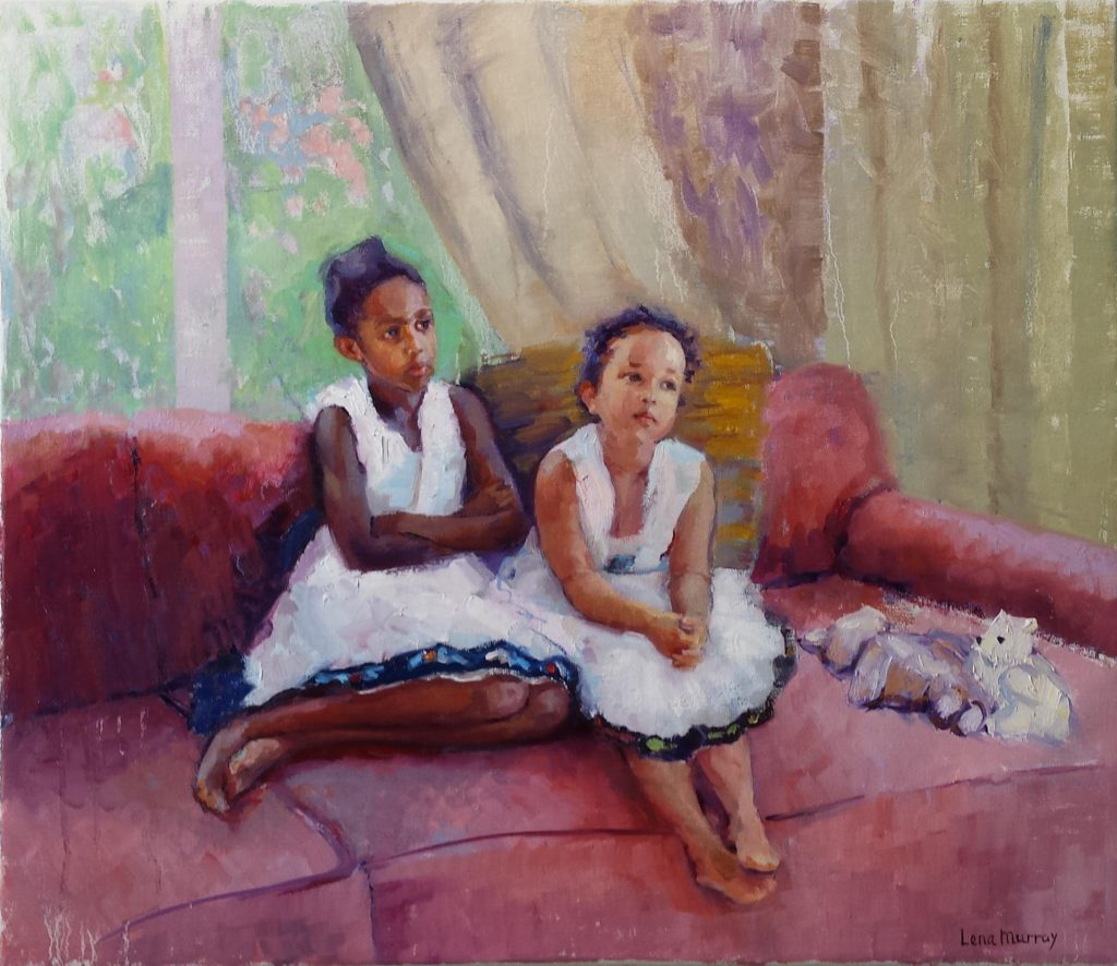 Sisters. oil on canvas