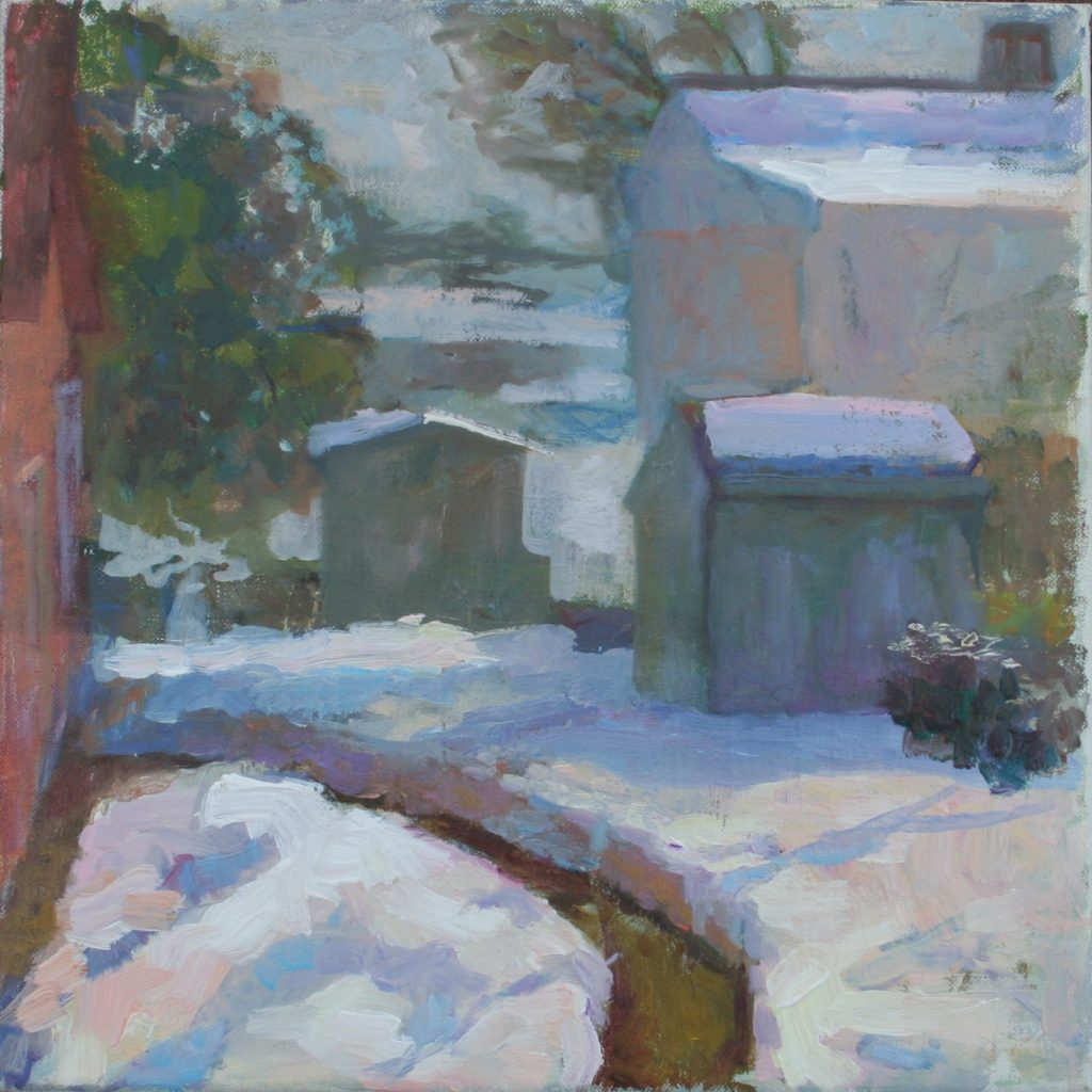 Snowed in. oil on canvas