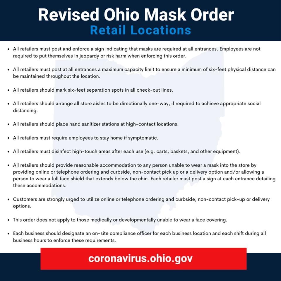Covid revised ohio mask order retail