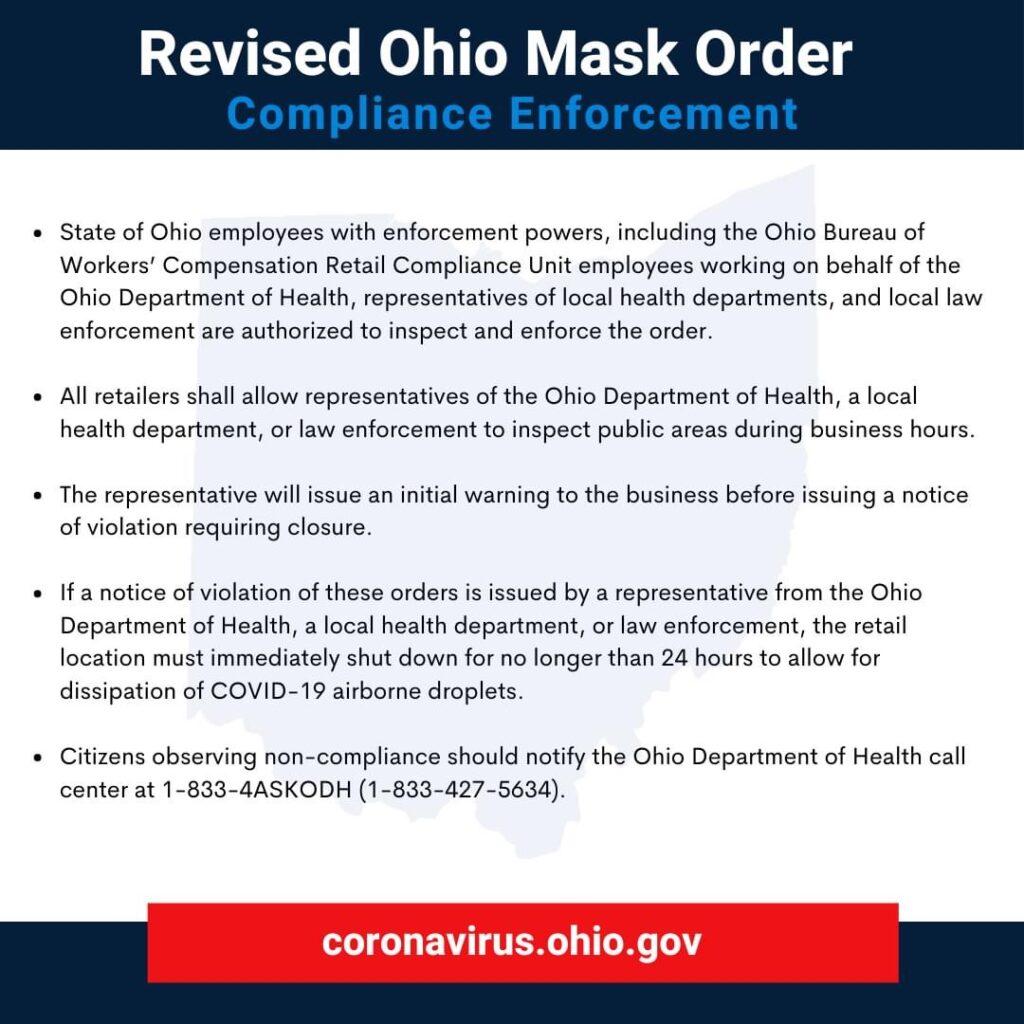 Revised ohio mask order covid