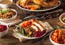 Holidays food turkey dinner
