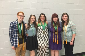 Above are  previous recipients of the Kevin N. Fick Memorial Scholarship. From Left to Right: Brock Smith, Haley Bissell, Kylie Long, Willow Adams, and Melony Victory. Submitted photo.