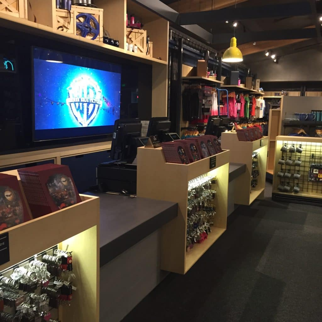 Custom store displays cash-wrap
