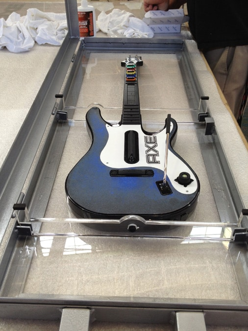 Custom Axe Rockband Guitar in Display Case