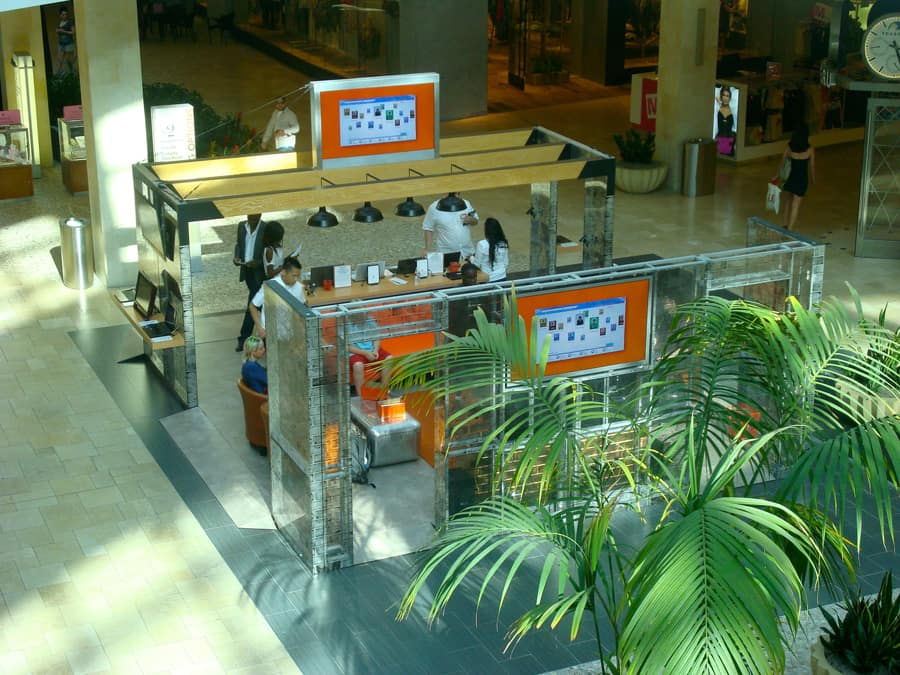 Microsoft Mall Kiosk from Above