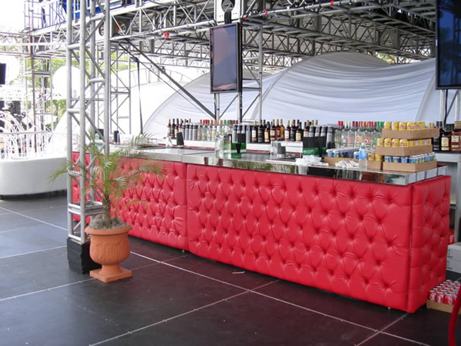 Custom Booth Seat Material Drink Bar