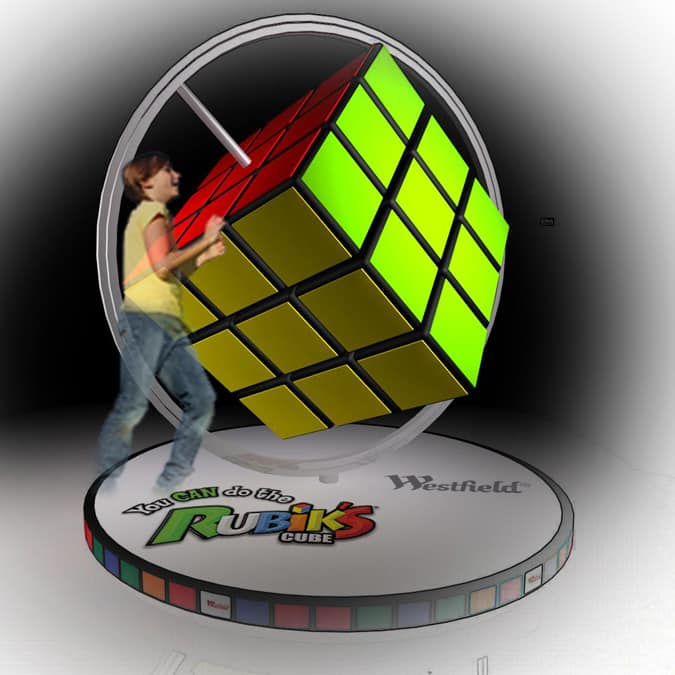 Giant Interactive Rubics Cube