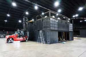 Black Shipping Container Building
