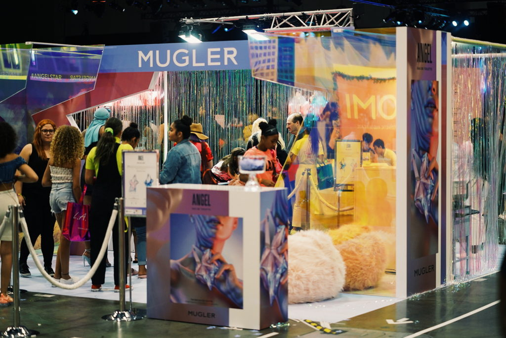 Mugler BeautyCon Booth