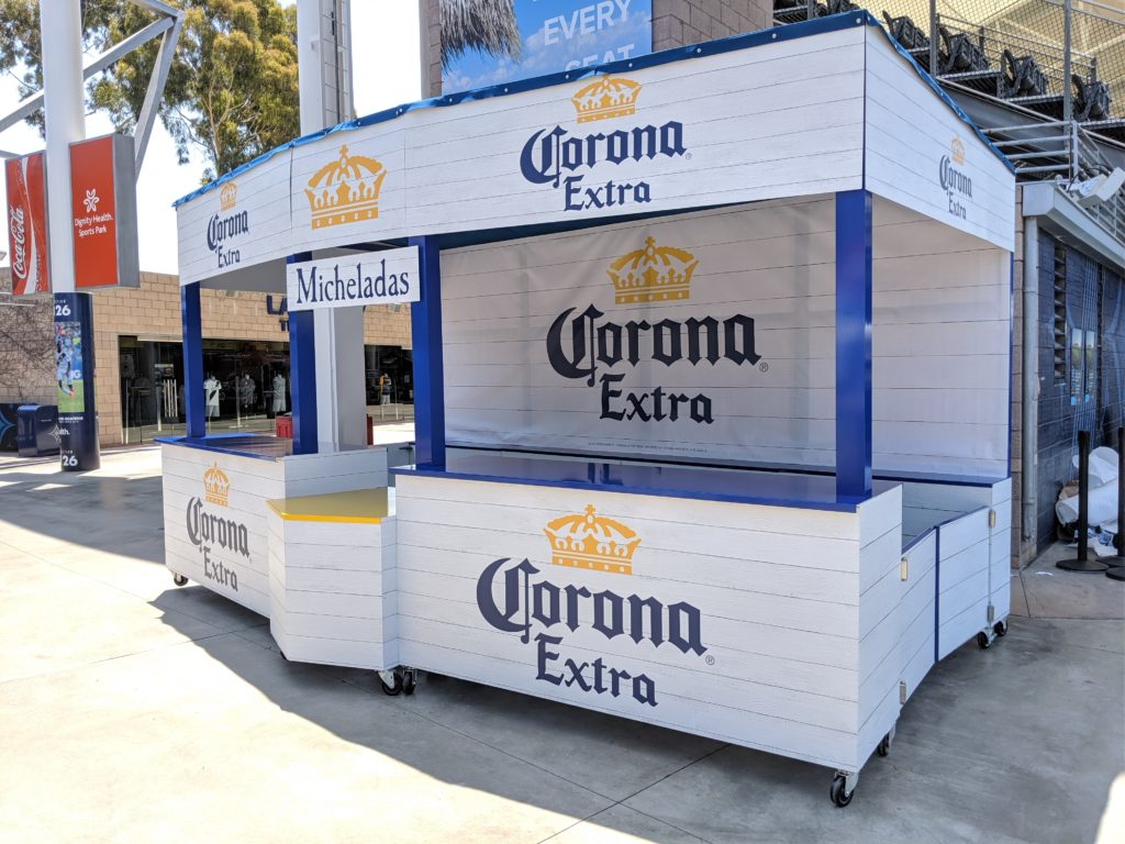 Mobile Stadium Bar Custom Fabrication at StubHub Arena