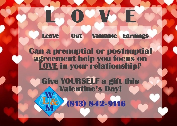 Picture of Love ad for Valentine's Day