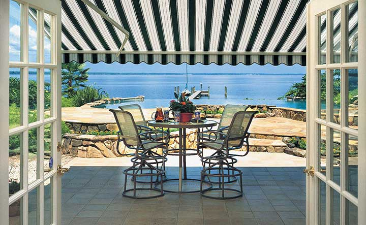 Reduce energy consumption with a retractable awning from Sunspaces