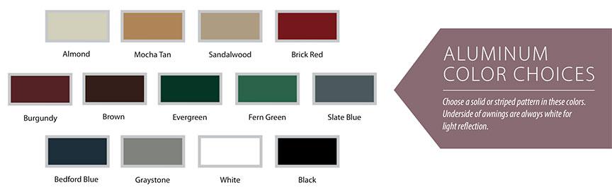 Futureguard door canopy color choices