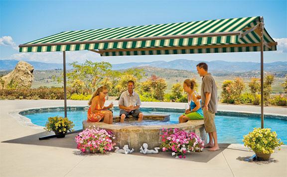SunSetter Oasis freestanding awning