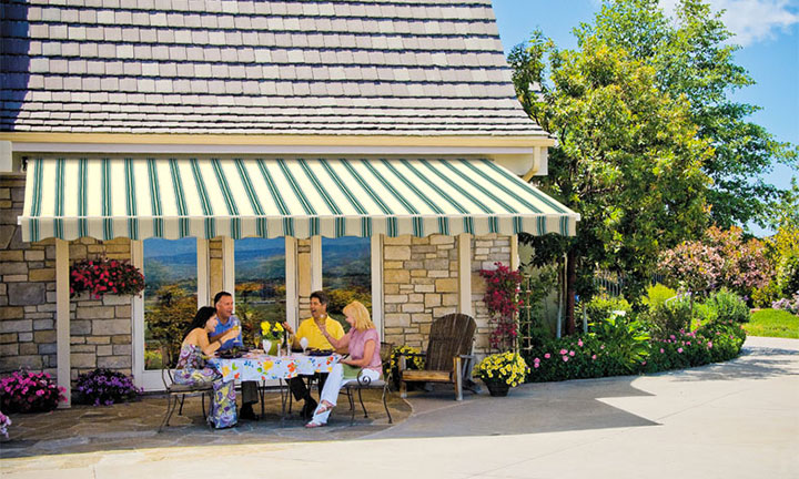 SunSetter motorized awning
