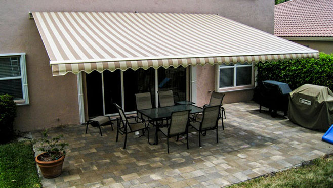 Sunesta retractable awning - shade when you need it, sun when you want it.