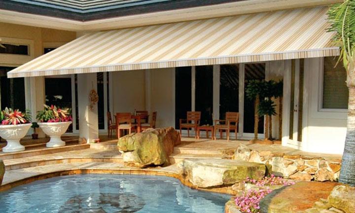 The Sunstyle retractable awning by Sunesta