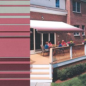 SunSetter Burgundy Stripe 2803