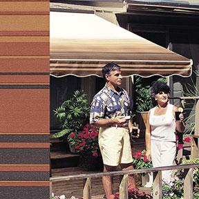 SunSetter Coffee Stripe 2802
