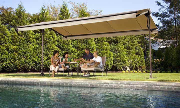 SunSetter Oasis freestanding awnings