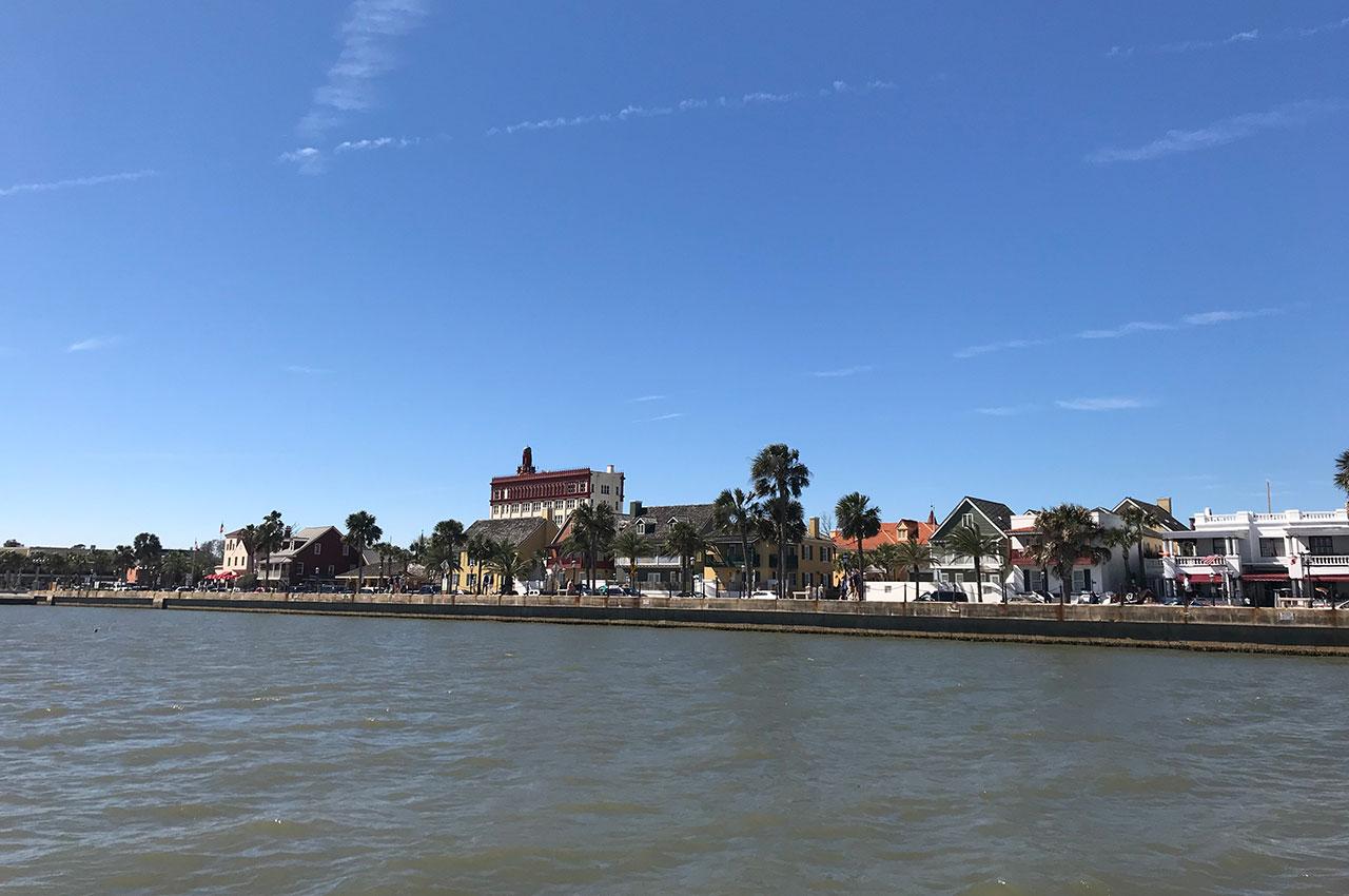 Intracoastal coast line of St. Augustine, Florida