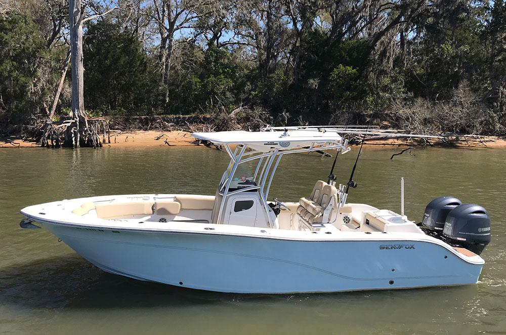 2017 Sea Fox Commander boat in the water