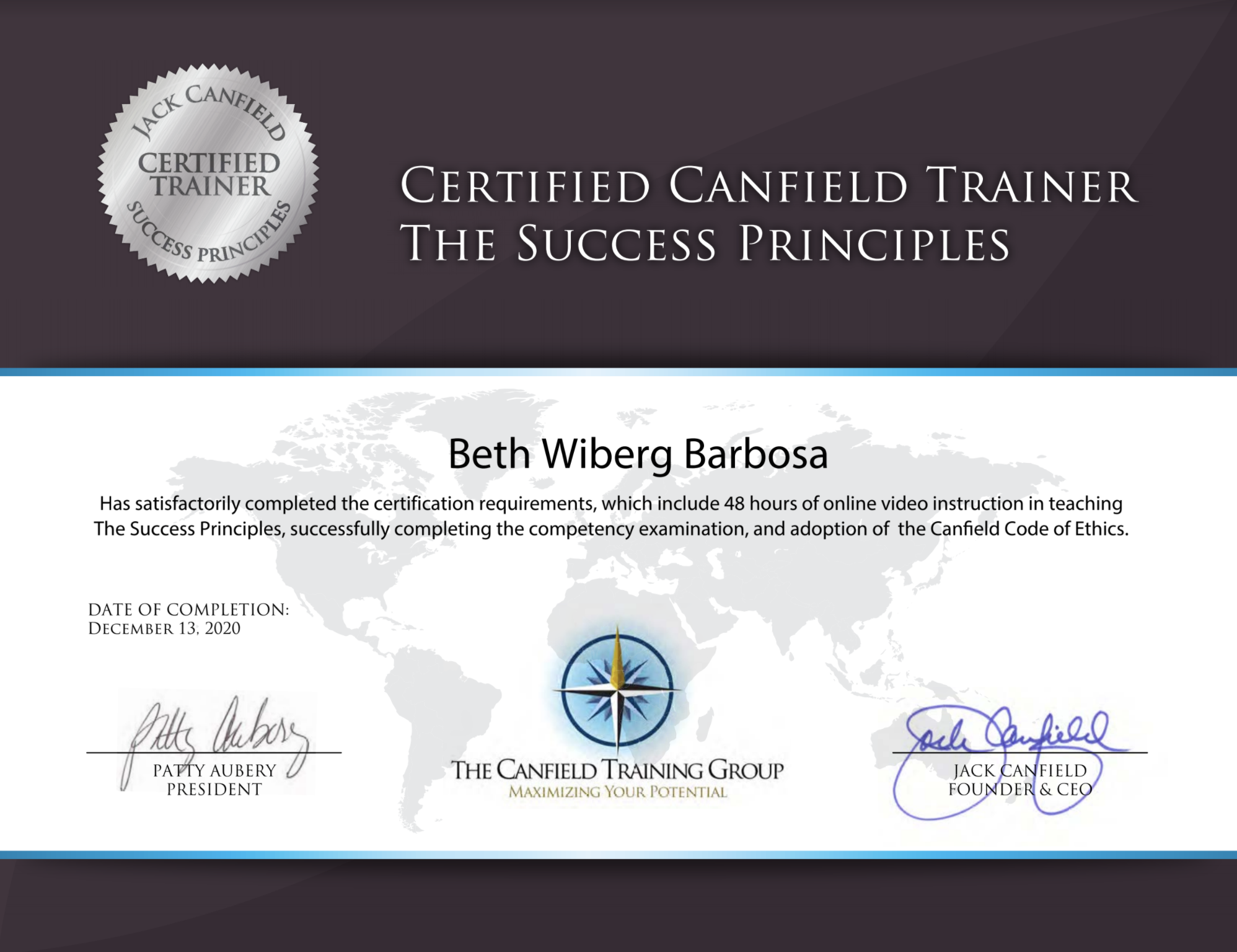 Jack Canfield Certified Life Coach - Beth Barbosa