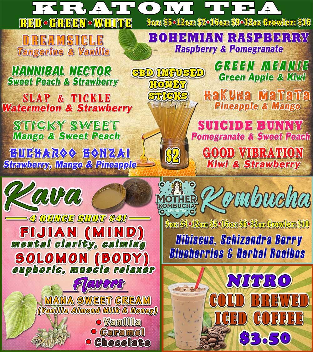 DRIP Botanical Tea Bar Drink Menu