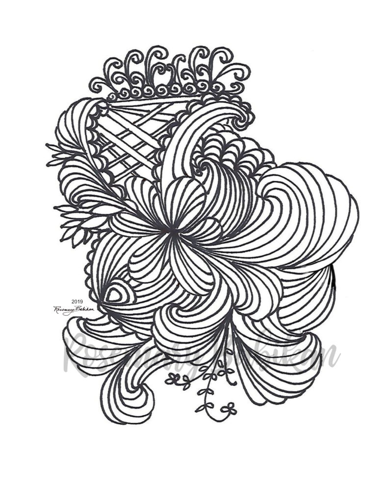 Adult Coloring Stress Relief 08
