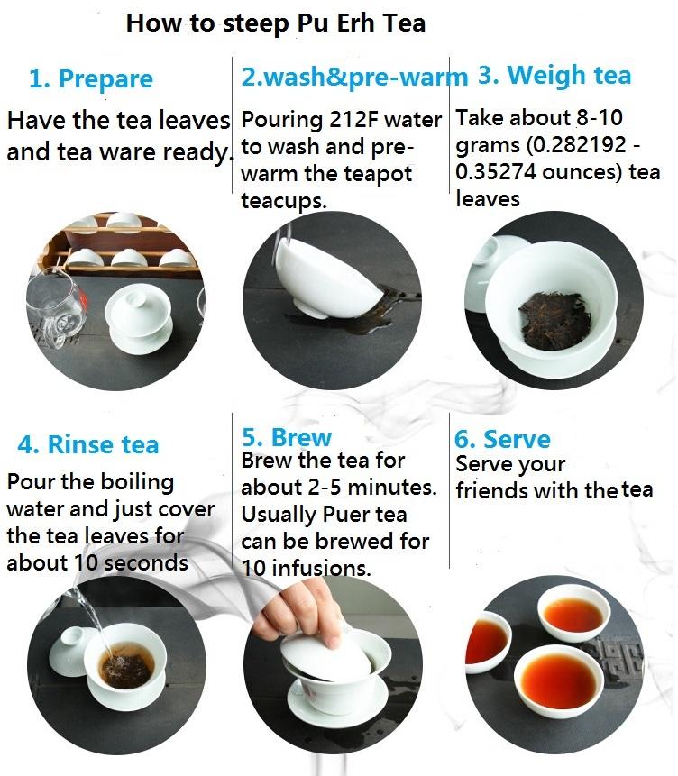 brew pu erh tea