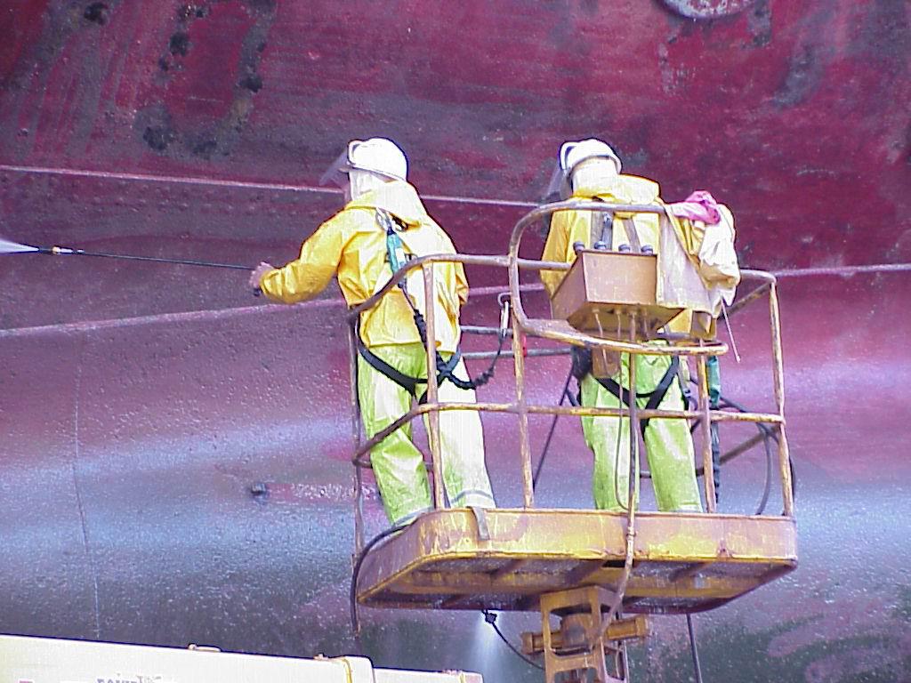 Ship Repair Association of Hawaii, SRAH, repair workers hull blasting