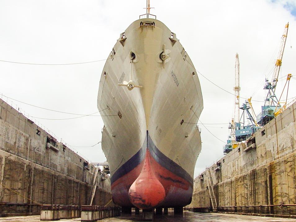 Ship Repair Association of Hawaii, SRAH, Hawaii Shipyard Matsonia bow