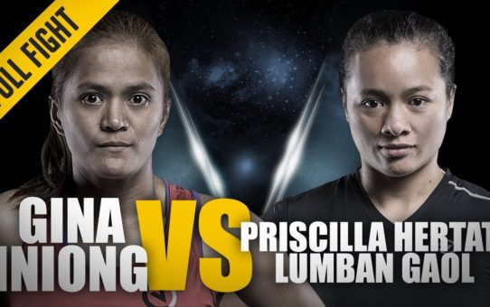 ONE: Full Fight | Gina Iniong vs. Priscilla Hertati Lumban Gaol | Blistering Ground Attack