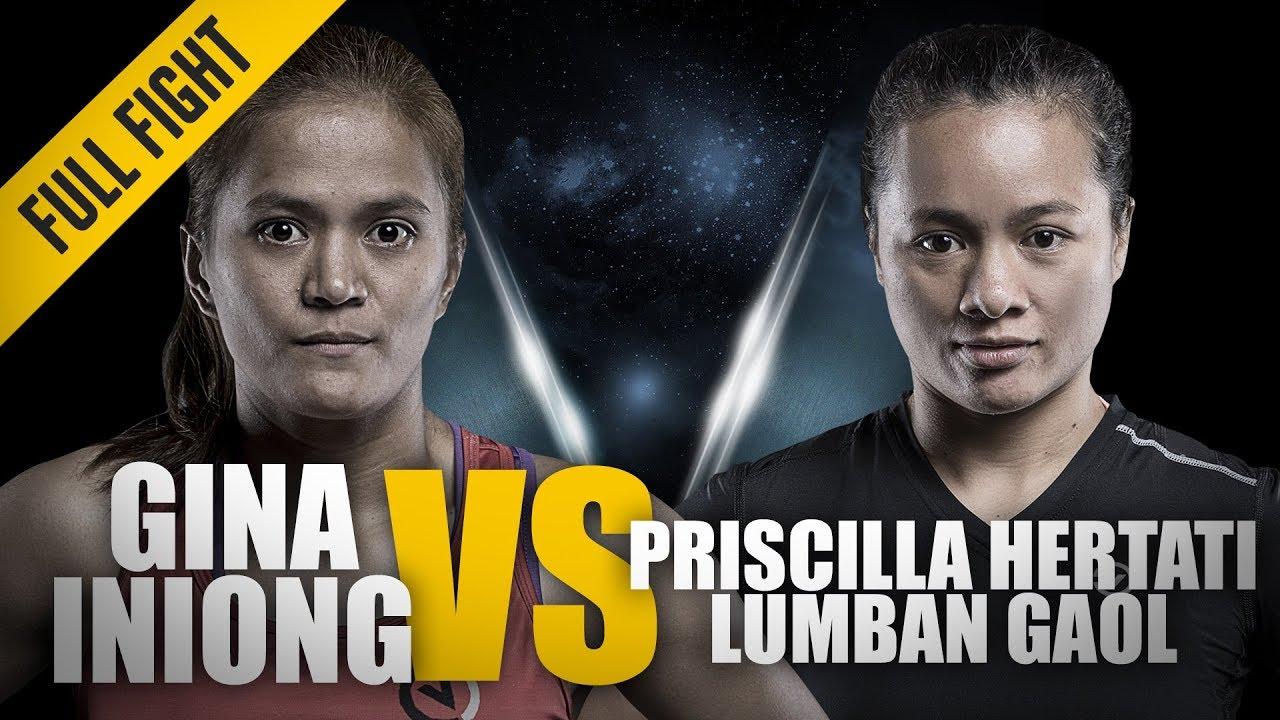 ONE: Full Fight | Gina Iniong vs. Priscilla Hertati Lumban Gaol | Blistering Ground Attack
