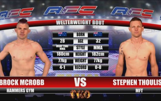AFC 20 – Brock McRobb Vs Stephen Thouliss