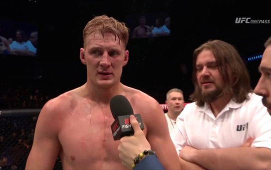 Fight Night London: Alexander Volkov Octagon Interview