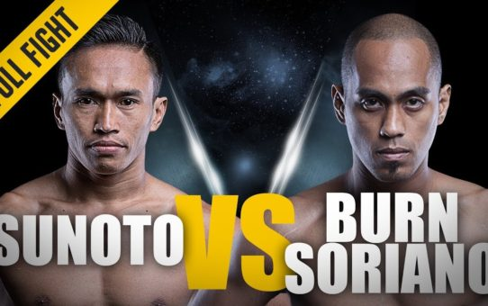 ONE: Full Fight | Sunoto vs. Burn Soriano | The Indonesian Warrior | April 2016