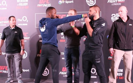 UFC London Media Day Staredowns – MMA Fighting