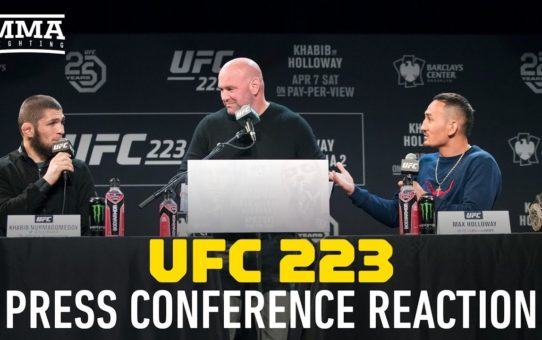 UFC 223: Nurmagomedov vs. Holloway Press Conference Reaction – MMA Fighting