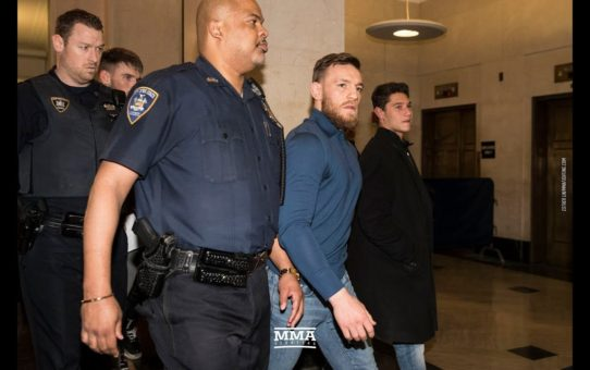 Conor McGregor Exits Courthouse After Hearing For UFC 223 Bus Attack – MMA Fighting